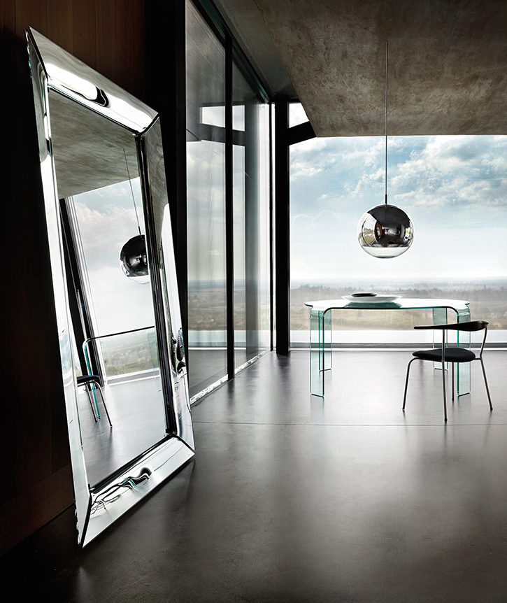 Caadre the curved glass mirror fiam italia for Philippe starck miroir