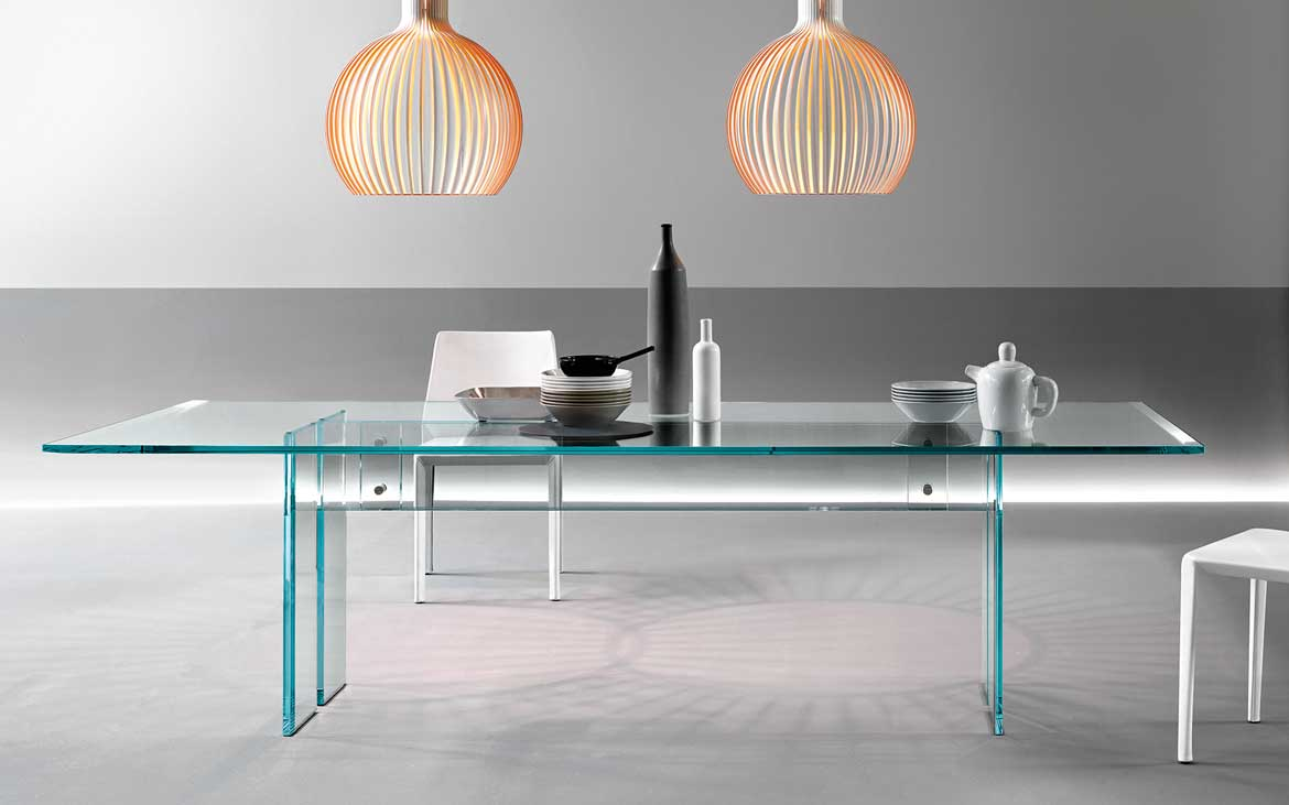 Llt the glass table fiam italia for Glass tavoli cristallo