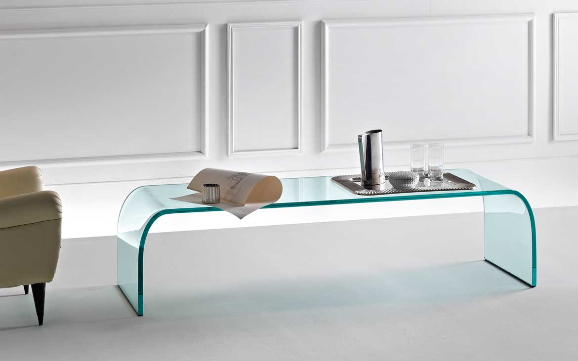 ponte the curved glass coffee table u2013 fiam italia